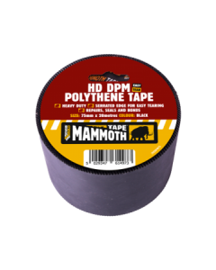 Mammoth Heavy Duty DPM Polythene Tape 75mm x 20m