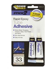 Stick 2 Rapid Epoxy Tube 12ml x 2
